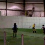 soccer face goal