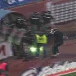 Red Star Belgrade Fans Bombard Partizan Players With Fireworks (Video)