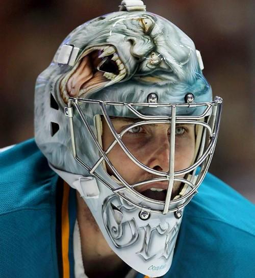 thomas greiss sharks mask 2011