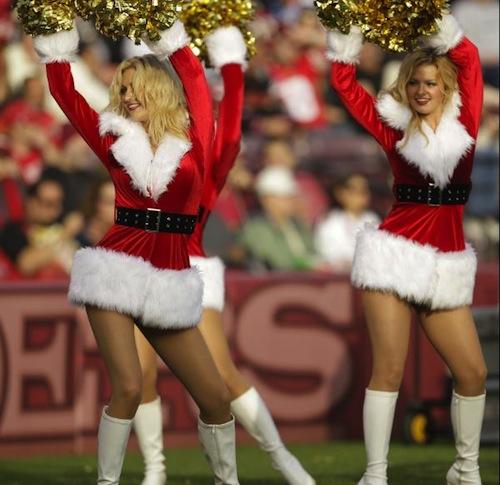 11 49ers christmas holidy cheerleaders