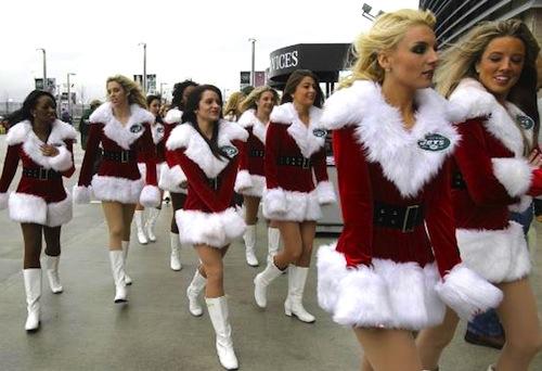 14 new york jets Christmas holiday cheerleaders