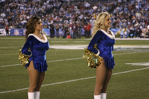 15 chargers christmas holiday cheerleaders