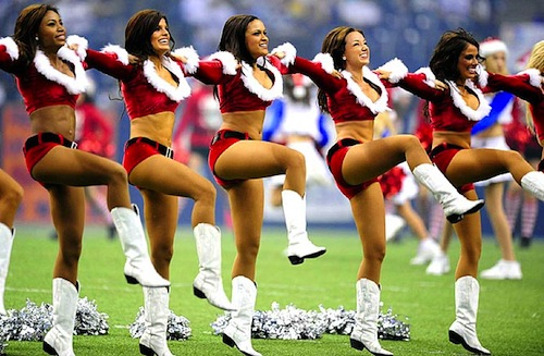 2 cowboys-cheerleaders christmas holiday - The 15 Best Christmas Themed Cheerleader Uniforms In The NFL Total