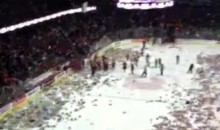 Calgary Hitmen 2011 Teddy Bear Toss Was A Hit! (Video)