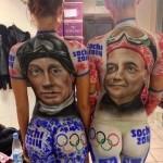 2014 Sochi Olympics: Vladimir Putin Body Art