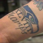 2014 Super Bowl - Super Bowl XLVIII Seahawks champs tattoo