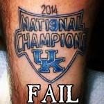 2014 national championship kentucky tatoo