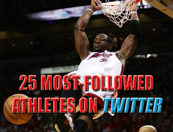 25 most-followed athletes on twitter