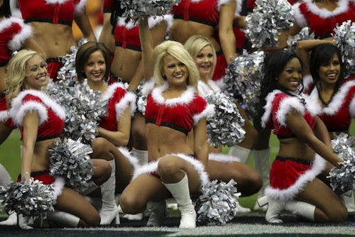 3 texans cheerleaders christmas outfits