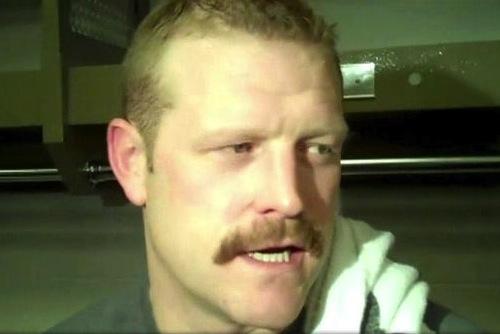tim thomas movember mustache