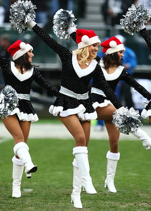 5 raiders christmas holiday cheerleaders
