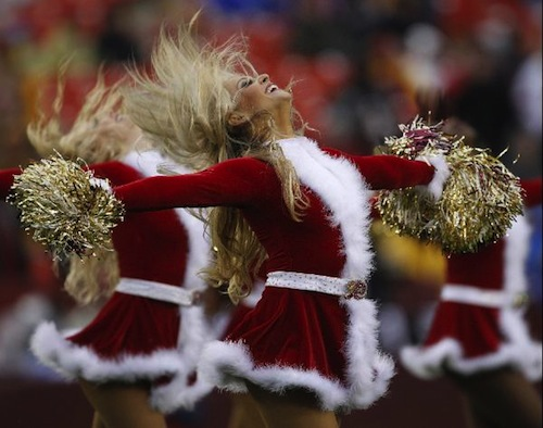 2ec8306b The 15 Best Christmas Themed Cheerleader Uniforms In The NFL | Total ...