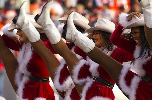 9 denver broncos cheerleaders christmas