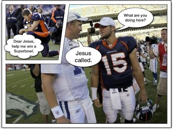 """All that """"Tebowing"""" finally paid off"""
