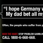 Anti-gambling campaign ad gone wrong