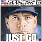 Arod New York Post front page