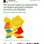 Bart and Lisa Simpson London Olympic Logo