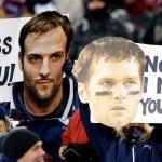 Brady & Welker signs in New England tonight.