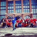 Colts Fan Pulls off Awesome Photobomb of Chiefs Fans Before Playoff Game
