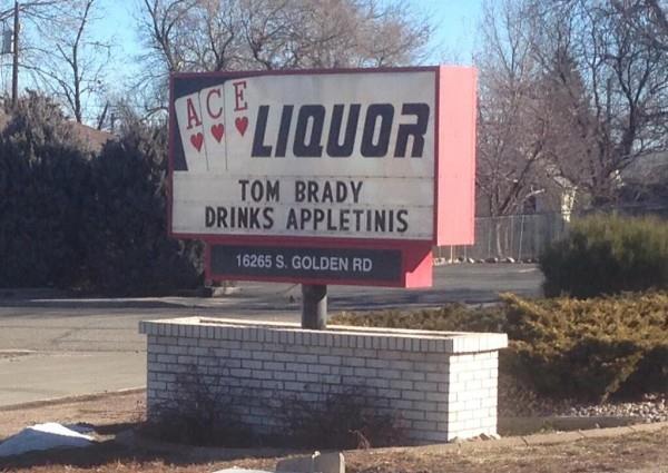 Denver Store Mocks Brady