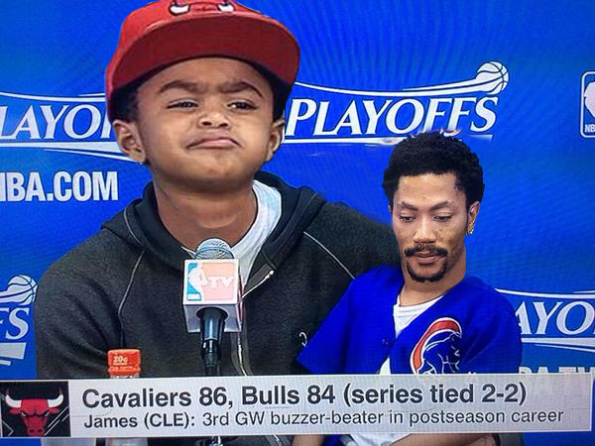 Derrick Rose & Son Face Swap