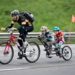 Father son daughter bike ride