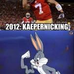 Kaepernicking 2012 versus 2013