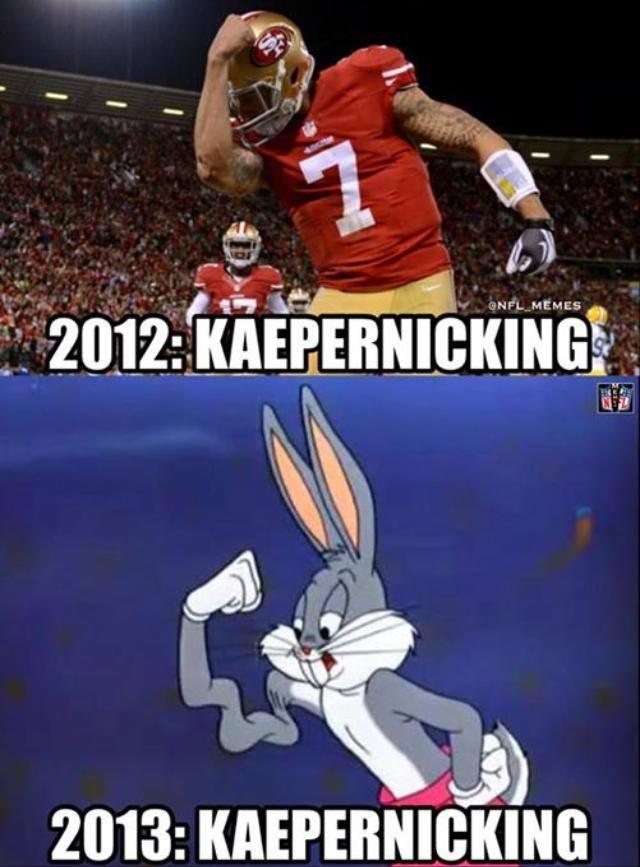 'Kaepernicking' 2012 Vs 2013