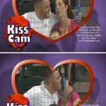 Kiss Cam at sports game great moment picture