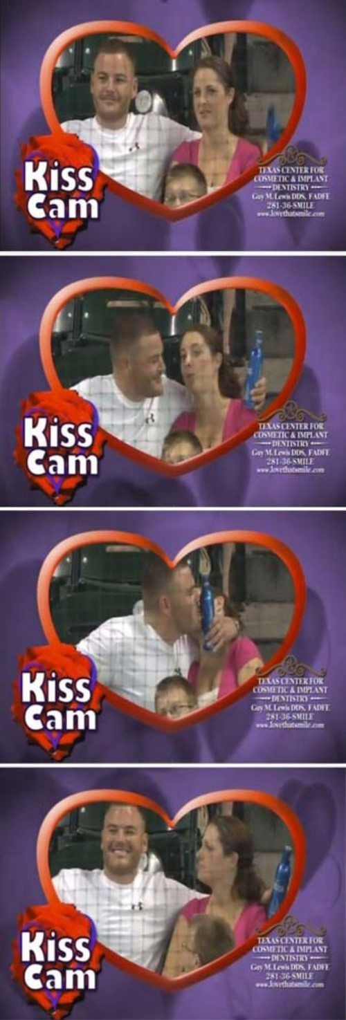 A Great Kiss Cam Moment…