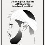 LeBron James headband over the years