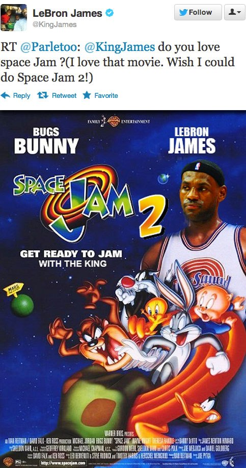 LeBron James in Space Jam 2?