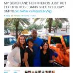 Lebron james mistaken for derrick rose on twitter