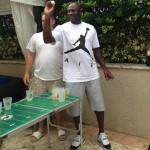 Michael Jordan beer pong
