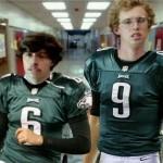 Nick Foles and Mark Sanchez show off their new Philadelphia Eagles jerseys