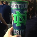 Notre Dame Figthing Irish Spelling Fail cup