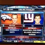 Peyton Manning versus Eli Manning