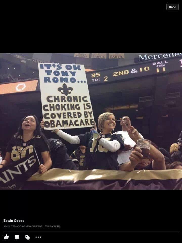 Saints Fan Troll Tony Romo