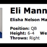 Eli Mannings Real Name