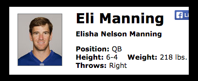 Eli Manning's Real Name….