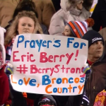 Broncos fan showing support for Eric Berry #BerryStrong
