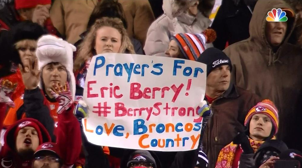 Broncos Fans Show Support…