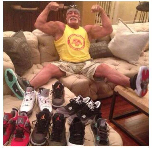 The Hulkster rocks Jordans