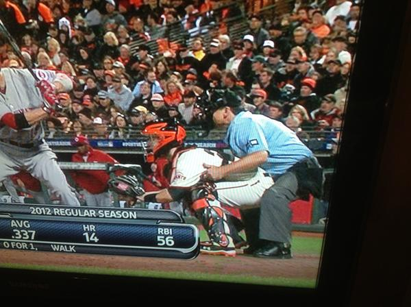 Hey Ump! A little too close…