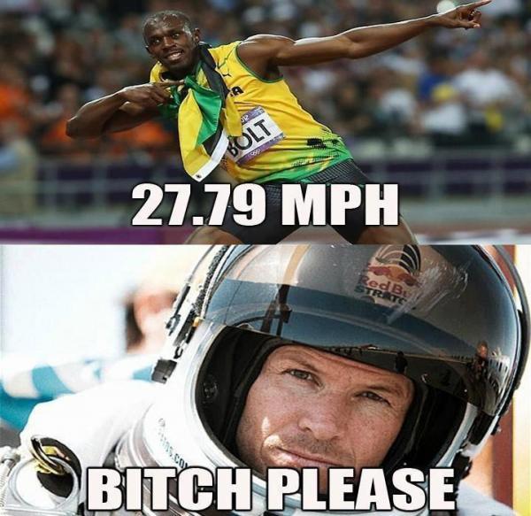 Bolt vs. Baumgartner…