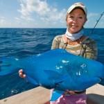Weird blue fish