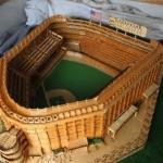Yankee Stadium made of match sticks