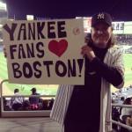 Yankees fans love bosoton