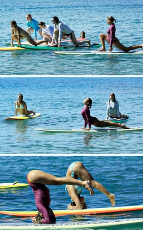 Yoga Surfing…