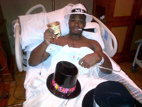 Adrian Peterson Rang In The New Year From A Hospital Bed